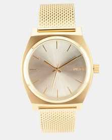 Nixon Time Teller Milanese Watch Gold-plated