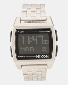 Nixon Base Watch Black/Silver-plated