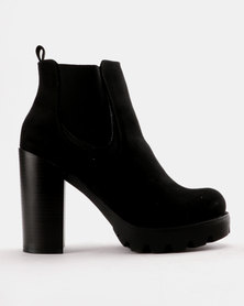 Utopia Heeled Chelsea Boot Black