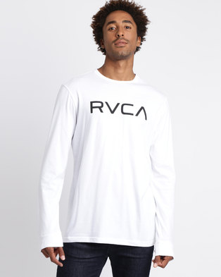 17ba5618f RVCA Big RVCA Long Sleeve T-shirt White