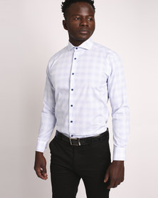Robert Daniel Small Block Print Shirt White