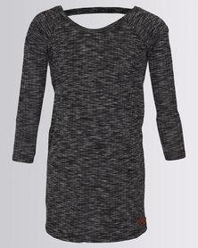 Lizzy Girls Taran Long Sleeve Dress Black
