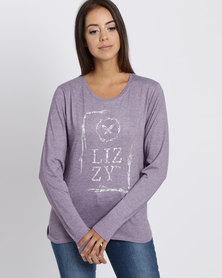Lizzy Adamaris L/S T-shirt Purple