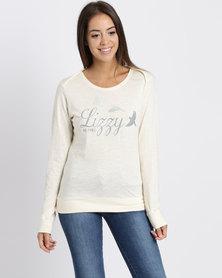 Lizzy  Dolores Crew Sweater Ivory