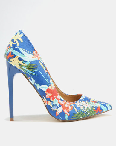 b29f96517e9d Madison Chantelle Pumps Blue Tropical Print