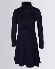 Me-A-Mama Poloneck Dress Twilight