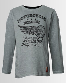 Lizzard Boys Vidar Long Sleeve Tee Green