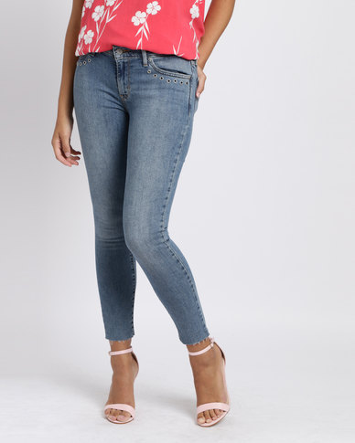 Levi's 711 Skinny Ankle Jeans Chelsea Bling