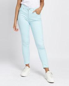 Levi's® 721 High Rise Skinny Fit Jeans Soft Iced Aqua