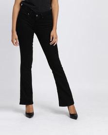 Levi's 715 Boot-cut Fit Jeans Soft Black