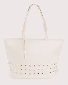 Bata Punch Out Tote Bag White