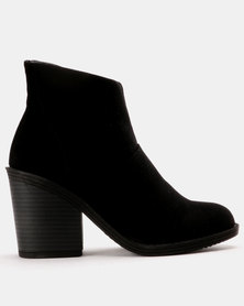Utopia Plain Chunky Heel Boot Black