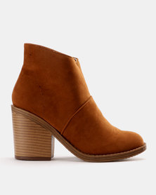 Utopia Plain Chunky Heel Boot Tan