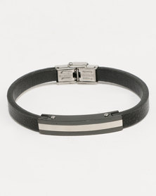 Xcalibur Skinny PU Bracelet Black