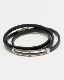 Xcalibur Skinny Wrap Bracelet Black