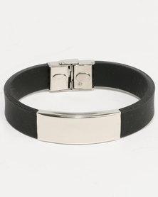 Xcalibur PU ID Bracelet Black