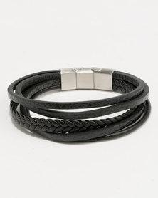 Xcalibur Braided PU Bracelet Black