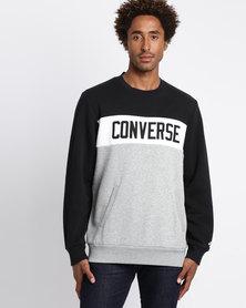 Converse Colourblock Crew Black
