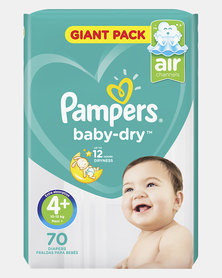 Pampers Active Baby Maxi Plus Size 4+ Giant Pack 70