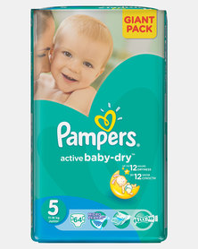 Pampers Active Baby Junior Size 5 Giant Pack 64