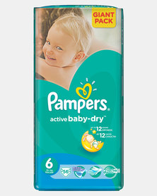 Pampers Active Baby XL Size 6 Giant Pack 56