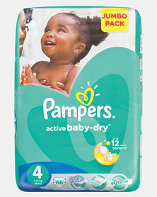 Pampers Active Baby Maxi Size 4 Jumbo Pack 66