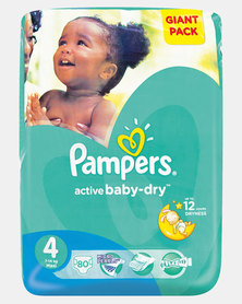 Pampers Active Baby Maxi Size 4 Giant Pack 80