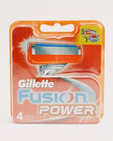 Gillette Fusion Power Cartridges 4's