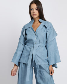 Judith Atelier Aria Denim Shirt Blue