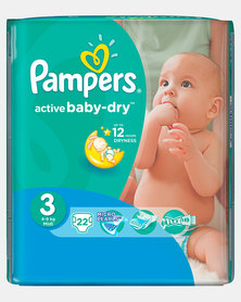 Pampers Active Baby Midi Size 3 Regular Pack 22