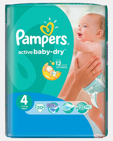 Pampers Active Baby Maxi Size 4 Regular Pack 20 Zando