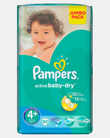 Pampers Active Baby Maxi Plus Size 4+ Jumbo Pack 62