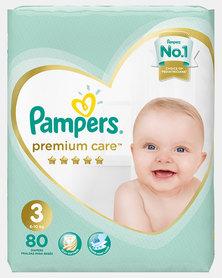 Pampers Premium Care Midi Size 3 Jumbo Pack 80
