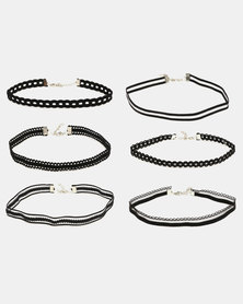 All Heart 6 Pack Choker Set Black