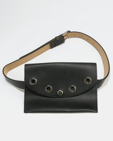 All Heart Belt Bag With Ring Detail Black
