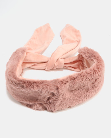 All Heart Faux Fur Scarf Pink  2bc4b28347c4