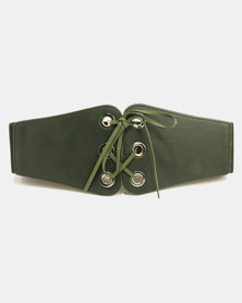 All Heart Ring Detail Waist Belt Green