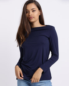 Utopia Boatneck 3/4 Sleeve Tee Navy
