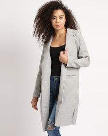 Grey melton casual coat