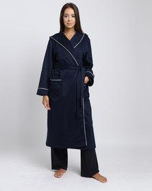 Lila Rose Lux Hoodie Robe Navy