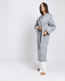 Lila Rose Lux Hoodie Robe Grey