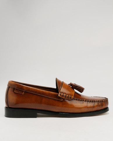 f18ea8bcd3c Bronx Men Tassel Hi Shine Leather Loafer Tan