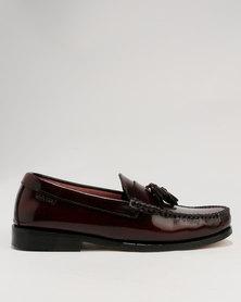 Bronx Men Tassel Hi Shine Leather Loafer Oxblood