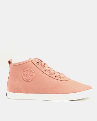 Soviet Callista Canvas Hi Top Sneakers Dusty Pink