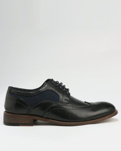 Baldini Brogue Lace Up Black & Blue