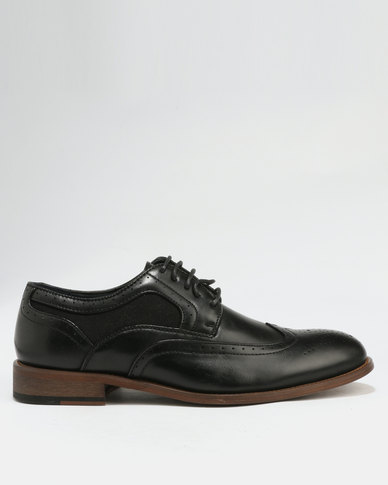 Baldini Brogue Lace Up Black