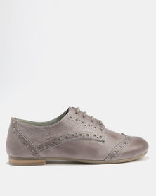 GIA Leather Lace Up Man Shoe Grey