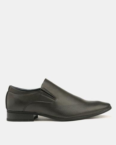 Baldini Formal Derby Slip On Black