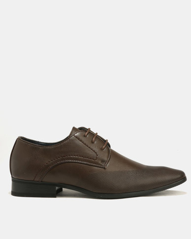 Baldini Formal Derby Lace Up Brown
