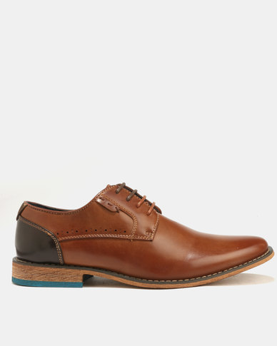 Baldini Derby Lace Up Tan